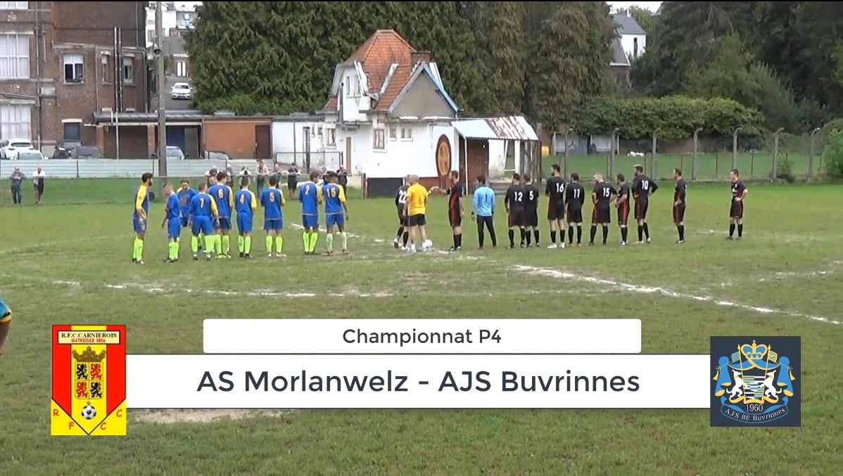 P4 : AS Morlanwelz – AJS Buvrinnes 2-2 (1-1) : résumé en vidéo