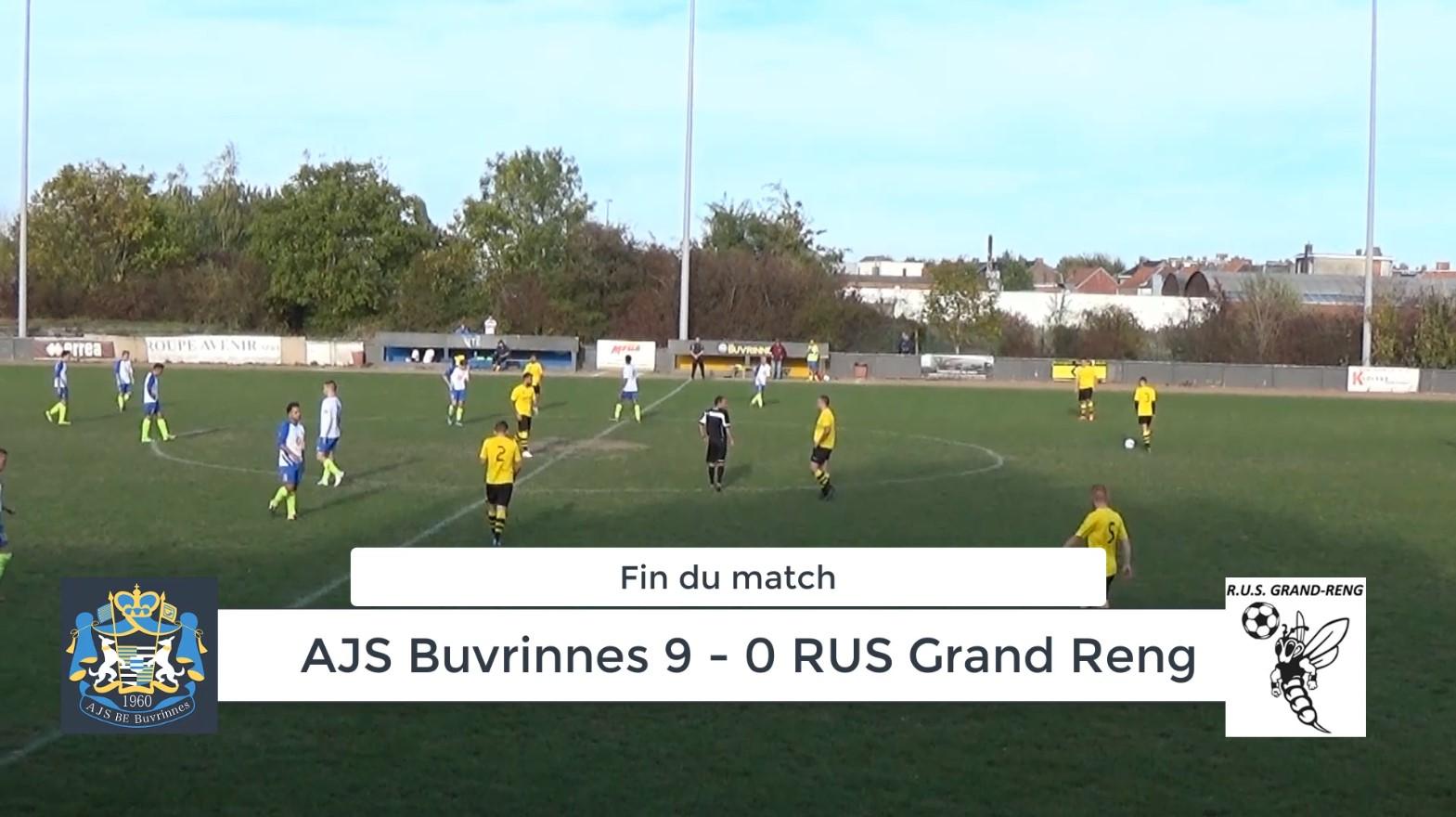 P4 : AJS Buvrinnes – Grand Reng 9-0 (3-0) : Résumé en vidéo (Mais oui !)