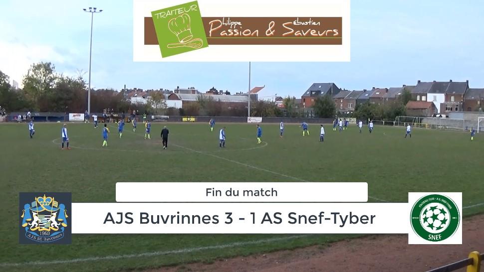 P4 : AJS Buvrinnes – AS Snef-Tyber 3-1 (1-1) : résumé en vidéo