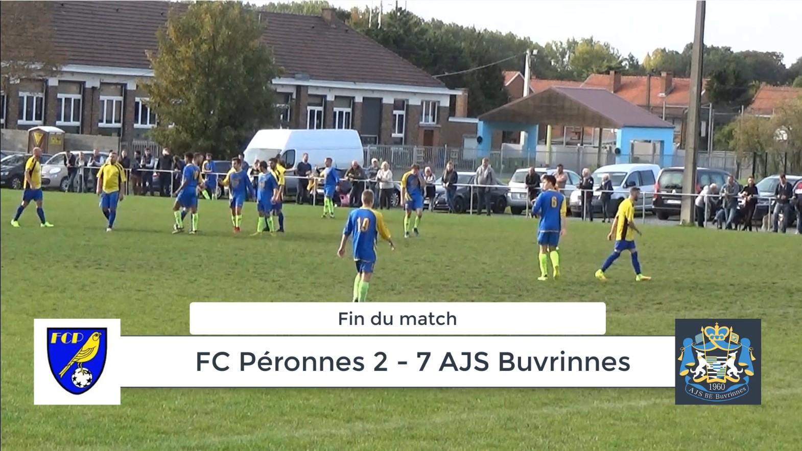 P4 : FC Péronnes – AJS Buvrinnes 2-7 (1-5) : résumé en vidéo