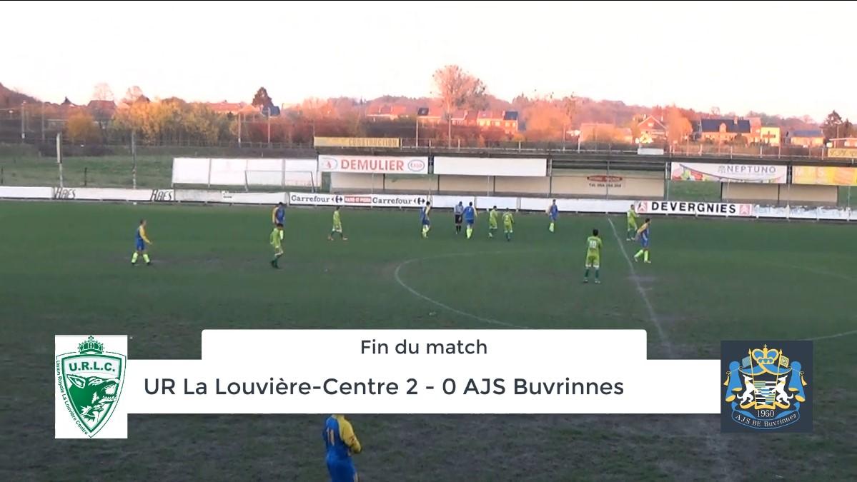 P4 : UR La Louvière-Centre – AJS Buvrinnes 2-0 (2-0) – résumé en vidéo