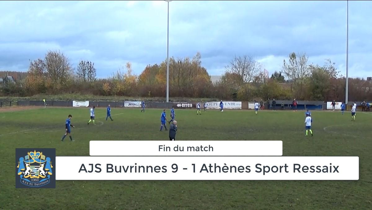 P4 : AJS Buvrinnes – Athènes Sport Ressaix  9-1 (4-0) – résumé en vidéo