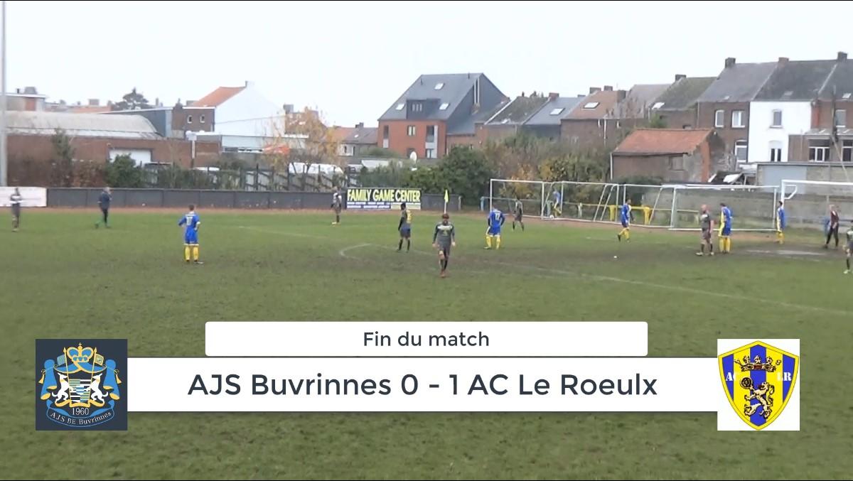 P4 : AJS Buvrinnes – AC Le Roeulx 0-1 (0-0) : résumé en vidéo