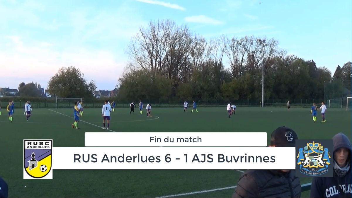 P4 : RUS Anderlues – AJS Buvrinnes 6-1 (3-0) résumé en vidéo