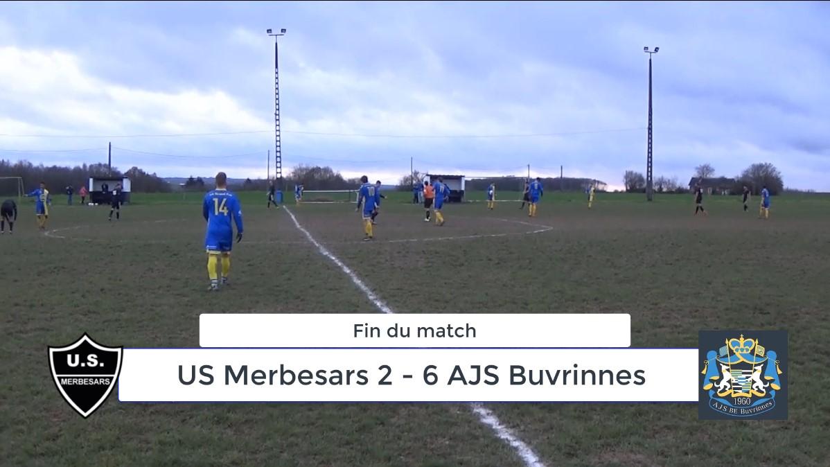 P4 : US Merbesars – AJS Buvrinnes 2-6 (1-2) : Résumé en vidéo