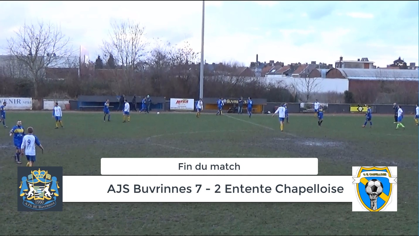 P4 : AJS Buvrinnes – UE Chapelloise