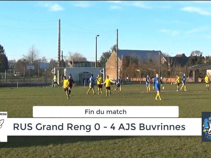 P4 : RUS Grand Reng – AJS Buvrinnes 0-4 (0-1) : résumé en vidéo