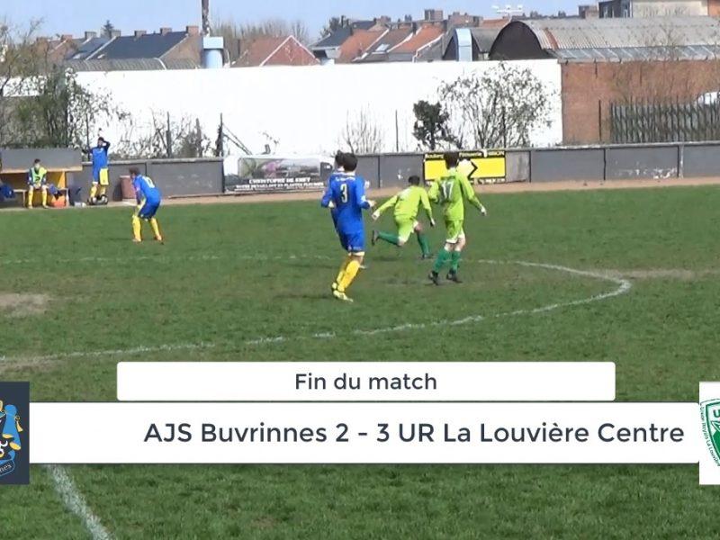 P4 : AJS Buvrinnes – UR La Louvière Centre 2-3 (1-1)