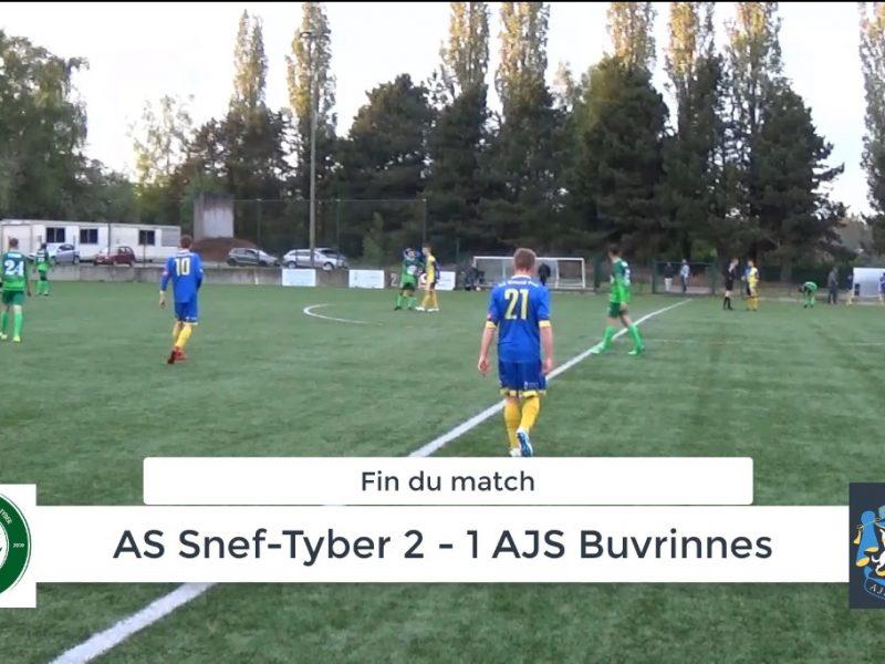 P4 : AS Snef-Tyber – AJS Buvrinnes 2-1 (1-0) : résumé en vidéo