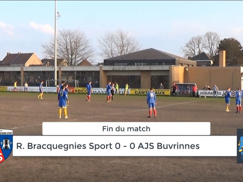 P4: Bracquegnies sport – AJS Buvrinnes 0-0 : résumé en vidéo