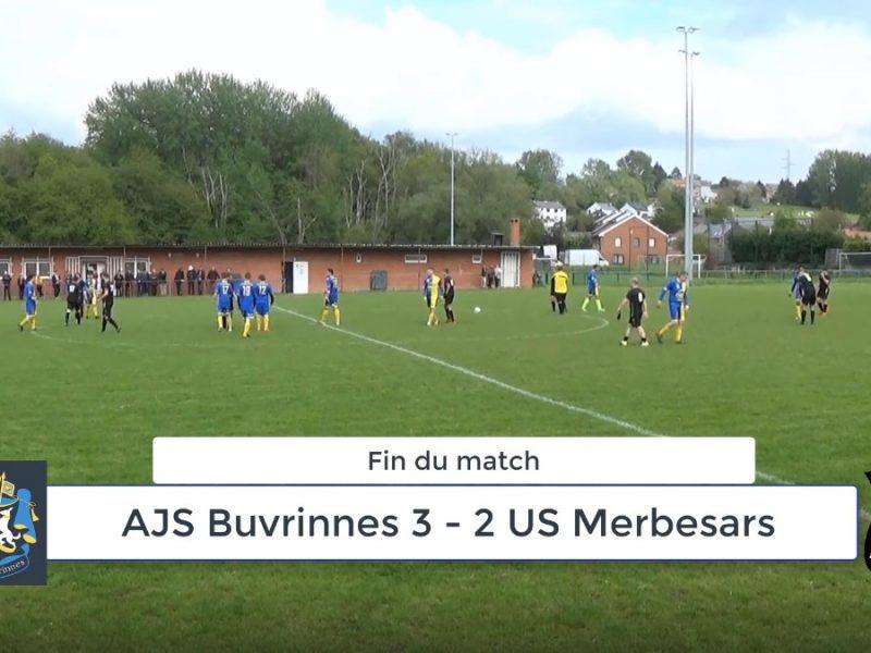 P4 : AJS Buvrinnes – US Merbesars 3-2 (1-0) résumé en vidéo