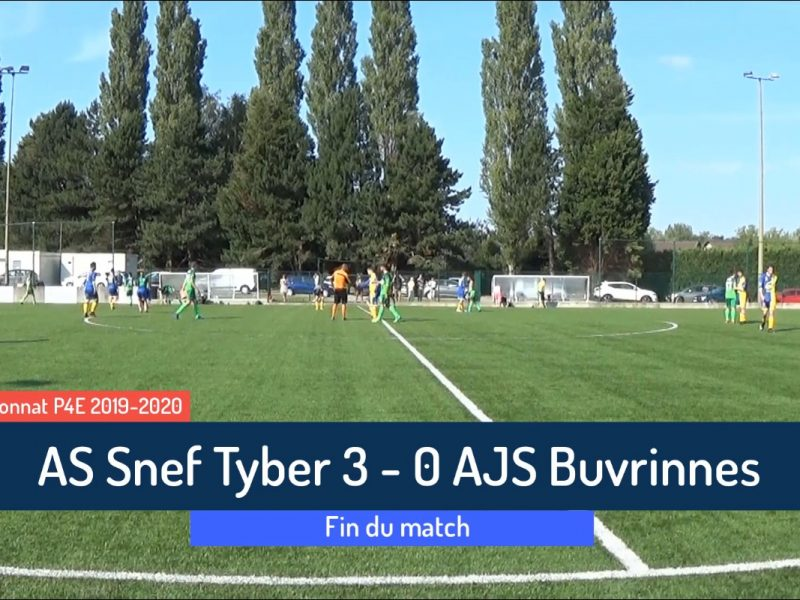 P4: AS Snef Tyber – AJS Buvrinnes 3-0 (1-0)