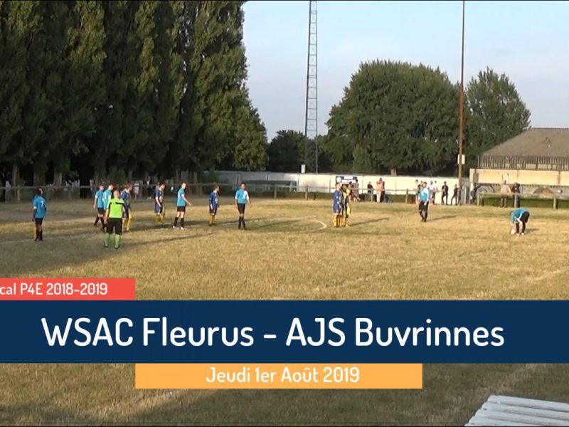 P4 : WSAC Fleurus – AJS Buvrinnes 4-4 match amical (les buts)