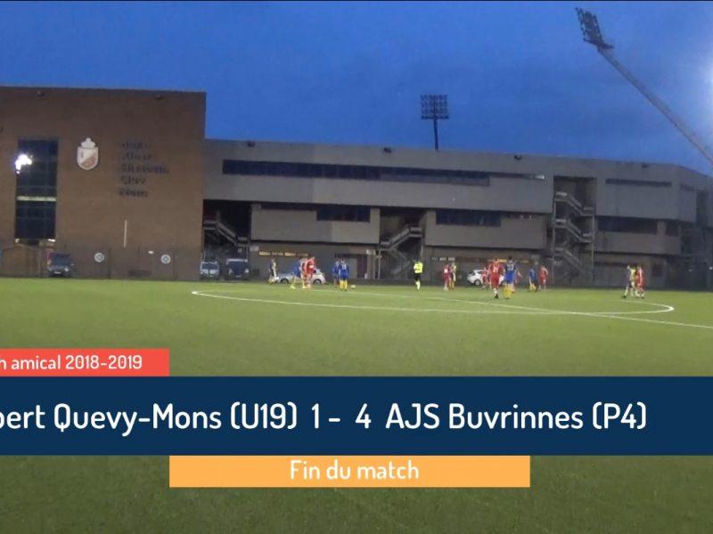 P4 : Albert Quevy-Mons (U19) – AJS Buvrinnes 1-4 (0-2)