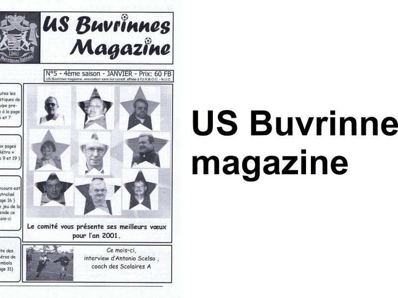 L'US Buvrinnes magazine